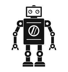 retro robot icon simple style vector image