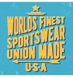 Sportswear vintage stamp vector image vector image