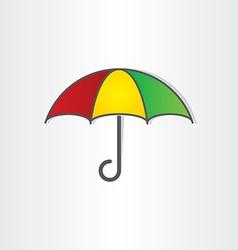 umbrella symbol design vector image vector image