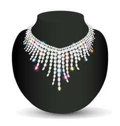 Womans necklace sparkling shiny beautiful vector