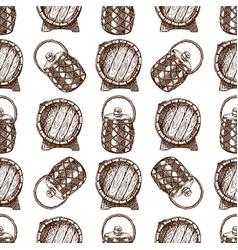 wooden barrel vintage old hand drawn sketch vector image vector image