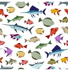 Colorful fishes seamless pattern vector image