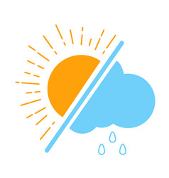 Icon meteorological day vector