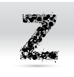 Letter Z formed by inkblots vector image