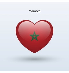 Love morocco symbol heart flag icon vector