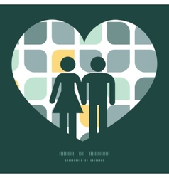 abstract gray yellow rounded squares couple vector image