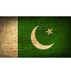 Flags Pakistan with dirty paper texture vector image