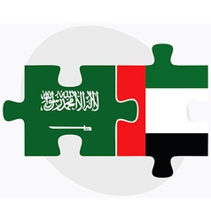 Saudi arabia and united arab emirates flags vector
