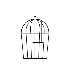 Birdcage black vector