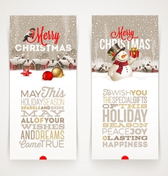 Christmas banners with type design vector