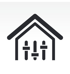 Mixer house icon vector