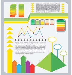 A colourful graphical representation vector