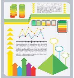 A colourful graphical representation vector
