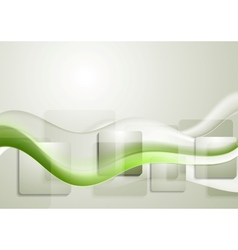 Abstract tech wavy background vector image vector image