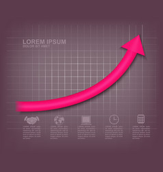 Arrow up graph vector