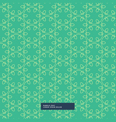 Beautiful line flowers pattern background vector