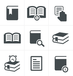Book Icons Set Design vector image
