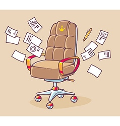 Brown office armchair of the head with lo vector