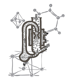 Chemistry skecth vector