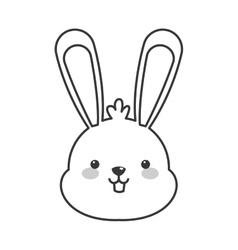 cute rabbit cartoon icon vector image
