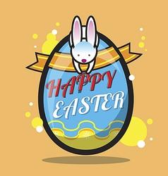 Happy easter bunny design vector