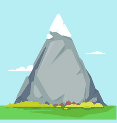 high mountain with sharp peak vector image vector image