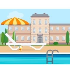 Lounge near the pool vector image