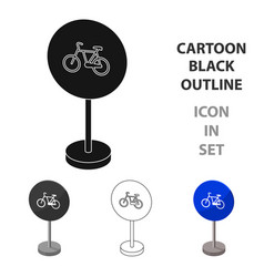 Mandatory road signs icon in cartoon style vector