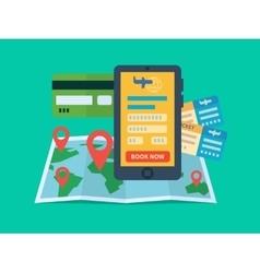 Online ticket booking vector image vector image