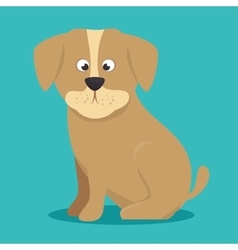 puppy beige color icon background vector image