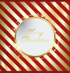 red christmas background with golden stripes eps10 vector image