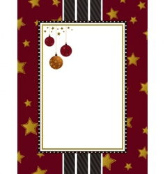 red gold and black frame vector image vector image