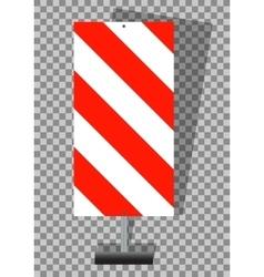Road signs orange badge guardrails on transparent vector