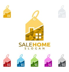 sale home logo real estate logo home house vector image vector image