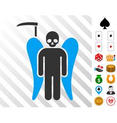 Scythe death angel icon with bonus vector