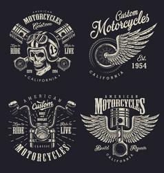 Set of custom motorcycle emblems vector