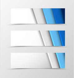 Set of header banner material design vector