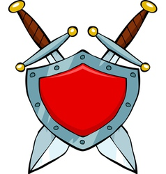 shield and swords vector image vector image