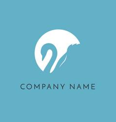 swan logo sign emblem-01 vector image