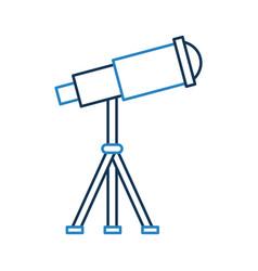Telescope device spacial icon vector