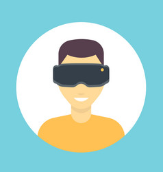 vr glasses icon virtual reality headset man in vector image vector image