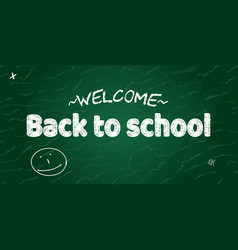 Welcome back to school banner vector