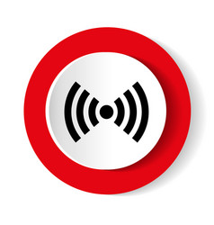 wifi red isolated on white background vector image vector image