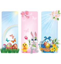 Banners for easter vector