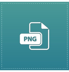 PNG image file extension icon vector image