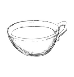 Porcelain cup sketch vector