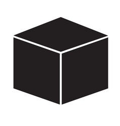 cube icon on white background cube sign vector image