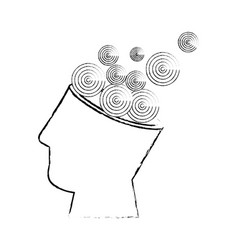 Isolated abstract open mind vector
