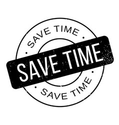 Save time rubber stamp vector