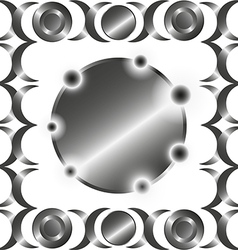 Metal circle rings pattern vector